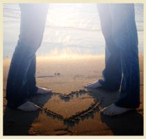 love on the beach by cardiganweather