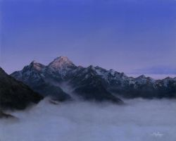 Sunrise over the Hollyford Valley by Mark-Anstis