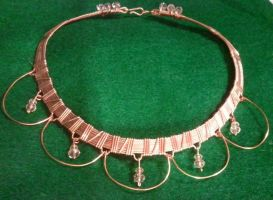 Copper Chandelier with Swarovski Crystal Necklace by BESTGEM4U