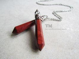Red Lyrium - Dragon Age Inspired Necklace by thingamajik