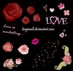 Romance Brushes Set 2 by bmjewell-stock