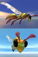 3D Robo Wasp by SEspider