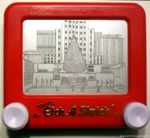 Rockefeller Center Etch by bryanetch