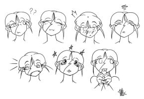 Expressions Erica Heads by madpuffins