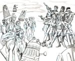 Companions and Monsters Pencils by lcannizzaro