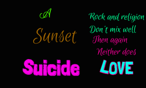 A Sunset Suicide Cover by Moons-WritingAccount
