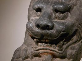 Asian lion statue by jelbo