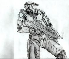 Master Chief and Assault Rifle by blackdragon0731