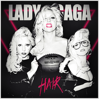 Lady GaGa - Hair CD Cover by GaGanthony