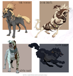 Combo of four + AUCTION + CLOSED by Grypwolf