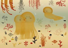 Jellyfishes by teconlene