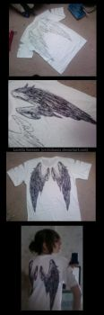 Grey Wings T-Shirt by orchidoasis