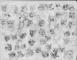 100 heads and poses P25 by Redfoxbennaton
