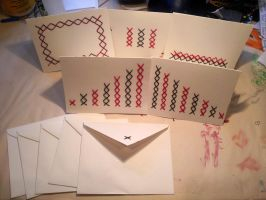 Stitched Red and Black stationary by Pepper-Dragon