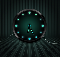 Analog Alien Clock for xwidget by jimking