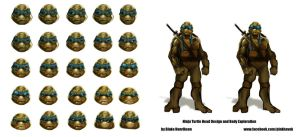 Ninja Turtles Concepts by pinkhavok