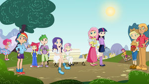 All Human Ponies Together by Airy-F