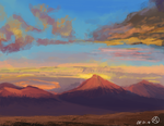 Sunset Mountains by Nx3Fox