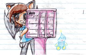 Chibi waits for mail by SuperSonicGirl79135
