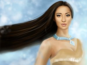 Pocahontas color by MartaDeWinter