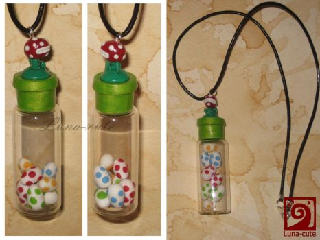 Yoshis Island necklace by Luna-cuteXD