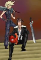 Squall and Cloud by Gimpy10145