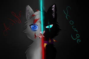 Scourge and Ashfur again by Eisfeder007