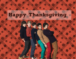One Direction Happy Thanksgiving Wallpaper by iluvlouis