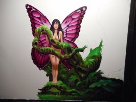 Jungle Fairy...oil on canvas..36x36 inches..wip by ChristopherPollari