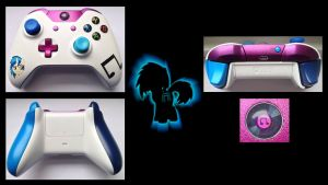 Vinyl Scratch Custom Xbox One Controller by CARDI-ology