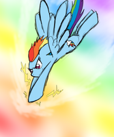 Split-Second Before by CresentBladedBrony