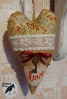 Christmas Heart Ornament + Free Pattern Link by AnastasiasArts
