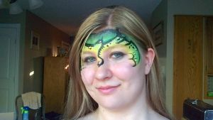 Dragon face paint by ColorfulCandie
