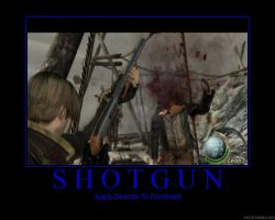Shotgun Demotivational Poster by Blackout-Resonance
