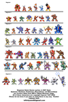 Megaman Bosses, MM7 style by InfinitysEnd