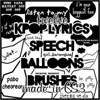 KPOP Lyrics Speech Balloons by fatz18
