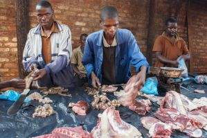 Butchers of Mulanje Market by ClaraMalaussene