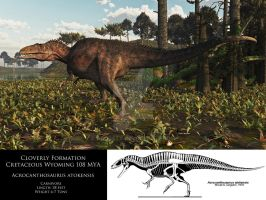 Cloverly Formation: Cretaceous Wyoming 108 MYA by adorety