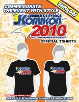 Komikon Summer 2010 Shirt Ad by komikon