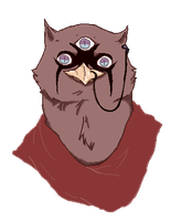 Rakesh the Three-eyed Owl by Major-Miles