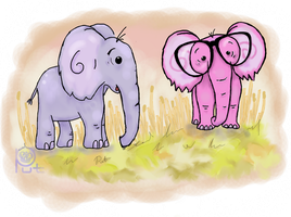 the Pink Elephant Reginald by Put-Putt