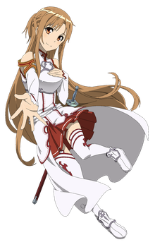 SAO: Asuna - Lineart Colored by DennisStelly