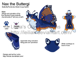 Nax the Buttergi Ref Sheet by LeiliaClay