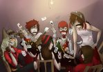 Poker Night with REDs by LadyWaflles