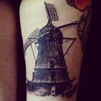 Old windmill by allentattoo