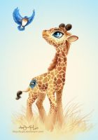 Commission - Giraffe MLP style by PaintedHoofprints
