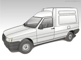 fiat fiorino vector by giographics