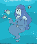 Avdenture Time OC: Lilly the Ocean Princess by TOASTYBURRITO