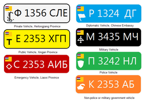 License Plates in Manchuria by kyuzoaoi