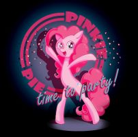 Pinkie Pie - Time to Party! by Kangaeien